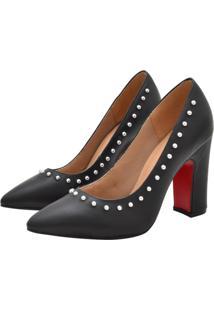 Scarpin Corazzi Leather Deluxe Spikes Preto