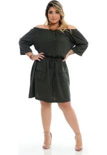 Vestido Ciganinha Militar Plus Size