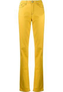 Karl Lagerfeld Calça Flare Girlfriend - Amarelo