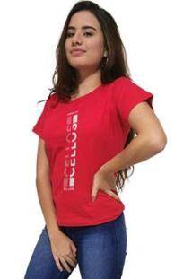 Camiseta Cellos Vertical Ii Premium Feminina - Feminino-Vermelho