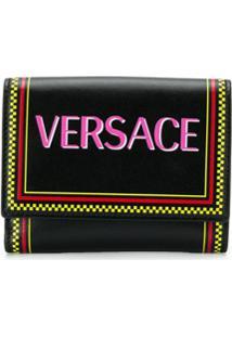 Versace Carteira Com Logo - Preto