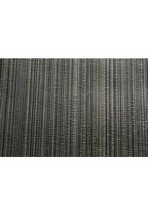 Papel De Parede Vinílico Lavável Maya Wallpaper 0,53 X 10M Listrado Preto/Dourado