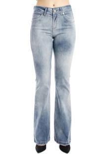 Calça Jeans Flare Azul Médio Alphorria