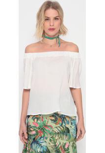Blusa Ciganinha Texturizada - Off White - La Conchala Concha