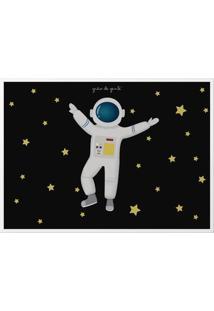 Quadro Astronauta 33Cm Grão De Gente Azul