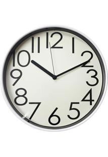 eecdeb64082 ... Relógio De Parede Analógico- Branco   Preto- 7Xø32Cmurban