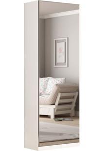 Sapateira Agata 1 Porta C/ 1 Porta De Espelho Branco Acetinado Gelius Móveis - Tricae
