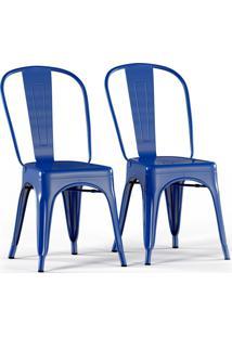 Conjunto Com 2 Cadeiras Tolix Azul
