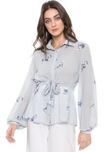 Camisa Enna Floral Azul