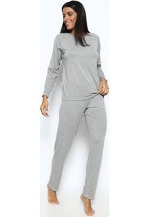 Pijama Com Renda- Cinzalupo
