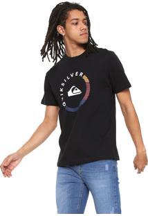 Camiseta Quiksilver Slab Session Preta