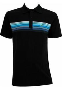 Camisa Pau A Pique Polo - Masculino-Preto