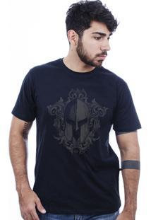 Camiseta Hardivision Elmo Corrosão Manga Curta - Masculino-Preto
