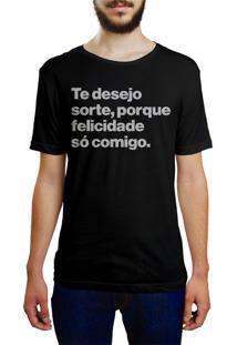 Camiseta Hunter Te Desejo Sorte Preta