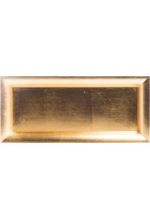 Bandeja Retangular Metalizada- Dourada- 2X40X40Cm