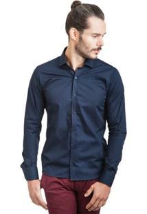 Camisa Di Sotti Lisa Silk Azul Marinho - Masculino