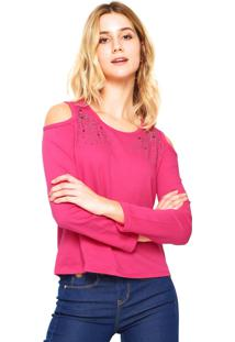 Blusa Habana Off Shoulder Rosa