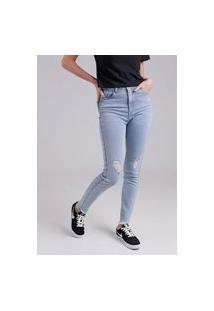 Calça Jeans Cigarrete Marmorizada Gang Feminina