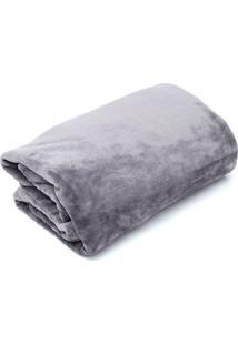 Cobertor Queen Camesa Velour Microfibra Neo Chumbo