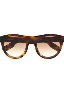 Kenzo Óculos De Sol Oversized Redondo - Marrom