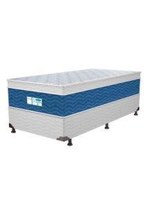 Colchão Solteiro Probel Blue, Branco E Azul, Pa34325, Molas Prolastic
