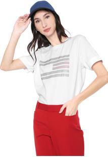 Blusa Tommy Hilfiger Logo Hotfix Branca