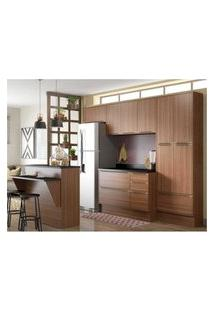 Cozinha Completa Multimóveis Com 8 Peças Calábria 5464R Nogueira