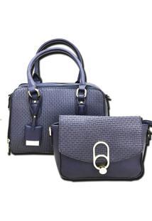 Bolsa Feminina Importada Transversal Sys Fashion 2730 Azul