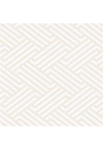 Papel De Parede Geométrico 100X52Cm Bege