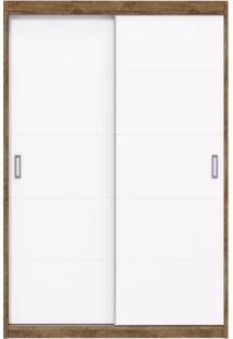 Guarda Roupa Infantil 2 Portas De Correr Fratelli New Matic Móveis Branco Acetinado/Teka Touch