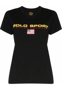 Polo Ralph Lauren Camiseta Com Logo De Algodão - Preto