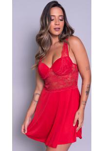 Camisola Bella Fiore Modas Com Bojo Em Tecido Canelado Vermelho - Kanui