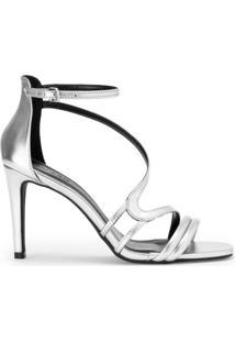 e0a9e684e Sandália Com Salto Metalizada feminina | Shoelover