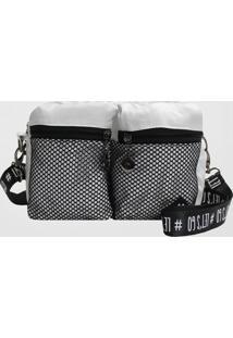 Bolsa Tiracolo Back Bag Nylon Let'S Go (Branco, Único)