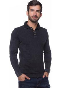 Camisa Polo Basic Le Tisserand Black Stoned