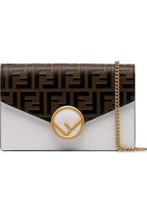 Fendi Bolsa Tiracolo Envelope Com Logo - Branco