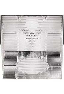 Spot Insondrio Embutir Vidro Quadrado 1G4 Bivolt 7X5Cm Zg028