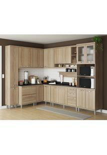 Cozinha Compacta 10 Peças Com Tampo 5803-S2T - Sicília - Multimóveis - Argila / Preto