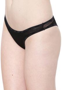 Calcinha Calvin Klein Underwear Tanga Tule Preta
