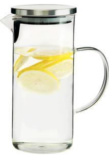 Jarra De Vidro Tampa Para Agua Ou Suco 1,3 Litros - Lojas Carisma - Branco - Dafiti