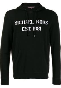 Michael Michael Kors Logo Drawstring Hoodie - Preto
