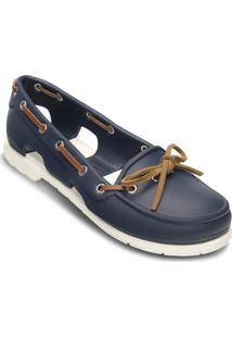 Sapatilha Beach Line Boat Shoe- Azul Escuro & Brancacrocs