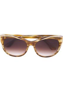 Thierry Lasry Óculos De Sol De Armação Redonda - Amarelo