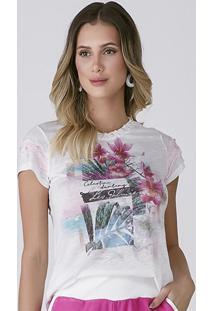T-Shirt Celestine Estampa Floral Pink
