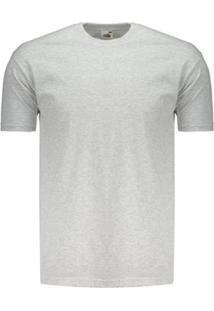 Camiseta Basica Masculina - Masculino-Cinza