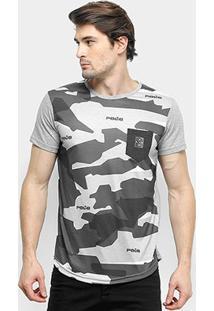 Camiseta Rg 518 Camuflada Manga Curta Masculina - Masculino-Chumbo