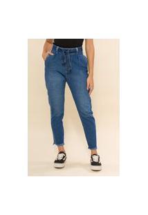 Calça Jeans Cropped Slouchy Ariane