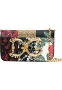 Dolce & Gabbana Bolsa Transversal Com Patchwork E Aplicação Dg - Vermelho