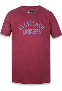 Camiseta New Era Basico Cleveland Cavaliers Vermelho Escuro