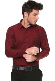 Camisa Aramis Slim Padronagem Bordô